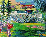 Golf paintings - Amphitheatre at Rivera by Leroy Neiman
