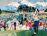 Golf paintings - April at Augusta by Leroy Neiman