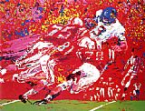 Leroy Neiman Black Shirts, Nebraska Suite painting