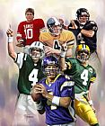 leroy neiman Paintings - Brett Favre