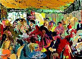 the cafe terrace Paintings - Cafe Rive Gauche