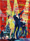 Leroy Neiman Frank, Liza and Sammy at Royal Albert Hall painting