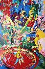 Leroy Neiman Green Table painting