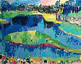 Golf paintings - Island Hole at Sawgrass by Leroy Neiman
