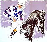 Leroy Neiman Jockey Suite Clubs painting