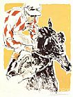 Leroy Neiman Jockey Suite Diamonds painting