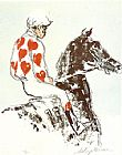 Leroy Neiman Jockey Suite Hearts painting