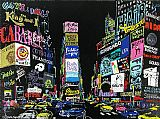 Street paintings - Lights of Broadway by Leroy Neiman
