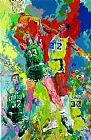 Leroy Neiman Magic Johnson painting