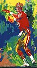 Leroy Neiman Quarterback of the Eighties painting