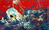 Leroy Neiman Red Sky Moby Dick Suite painting