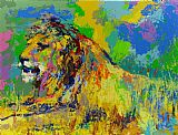 Leroy Neiman Resting Lion painting