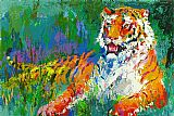 Leroy Neiman Resting Tiger painting