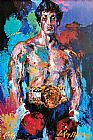 Boxing paintings - Rocky Balboa by Leroy Neiman