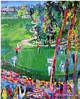 Golf paintings - Ryder Cup detail by Leroy Neiman