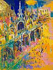 Leroy Neiman San Marco's Square painting