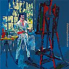 Leroy Neiman Self Portrait painting