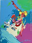 Leroy Neiman Skateboarder copy painting