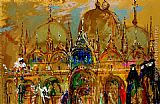 Leroy Neiman St. Mark's Square, Venice painting