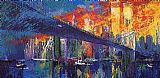 Leroy Neiman The Brooklyn Bridge painting
