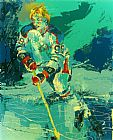 Leroy Neiman The Great Gretzky painting