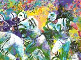 Leroy Neiman The Handoff Superbowl III painting