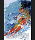 Leroy Neiman World Class Skier painting