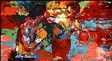 Boxing paintings - rocky 3 ending by Leroy Neiman
