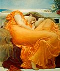Lord Frederick Leighton Flaming June painting