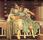Lord Frederick Leighton Leighton Music Lesson painting