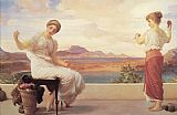 Lord Frederick Leighton Leighton Winding the Skein painting