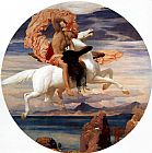 Lord Frederick Leighton Perseus on Pegasus Hastening to the Rescue of Andromeda painting