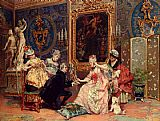 Luis Alvarez Catala Dressing For The Ball painting