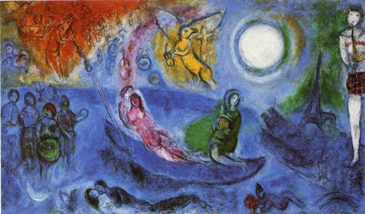 Marc Chagall Paintings - Marc Chagall The Concert Painting