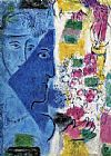 Marc Chagall The Blue Face painting