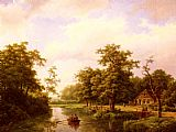 Marianus Adrianus Koekkoek On The Maas painting