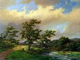 Marianus Adrianus Koekkoek The Approaching Storm painting