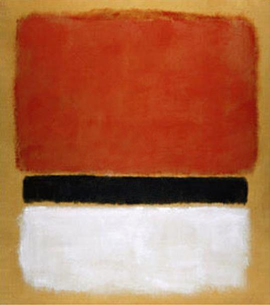 Mark Rothko Untitled Red Black White on Yellow 1955