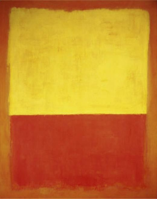 Mark Rothko Untitled no12 Red and Yellow