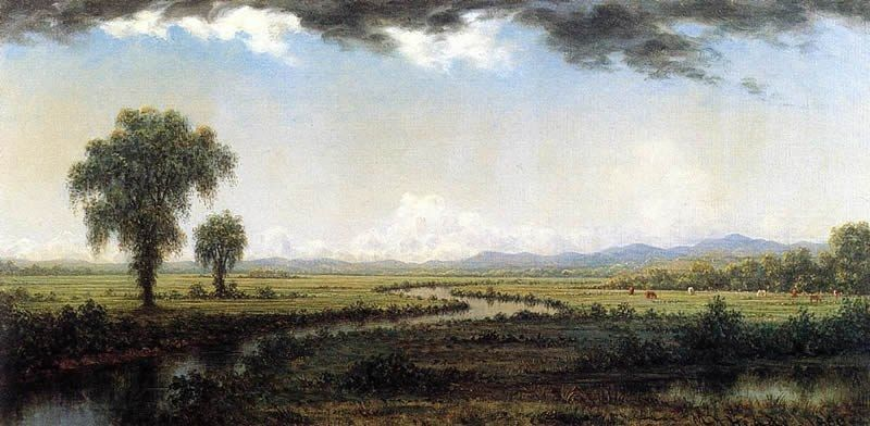 Martin Johnson Heade Storm Clouds over the New Jersey Marshes
