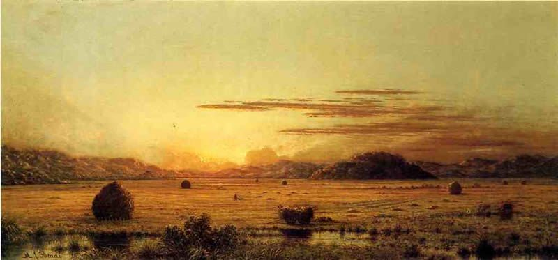 Martin Johnson Heade Sunrise, Hoboken Meadows