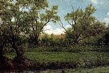 Martin Johnson Heade Brookside Asters In A Field painting