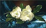 Martin Johnson Heade Magnolias on a Blue Velvet Cloth painting