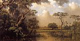 Martin Johnson Heade The Great Florida Marsh painting