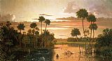 Landscape paintings - The Great Florida Sunset by Martin Johnson Heade