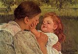 Mary Cassatt Maternal Caress painting