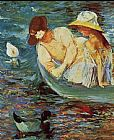Mary Cassatt Summertime painting