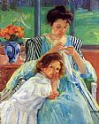 Mary Cassatt Young Mother Sewing 1902 painting