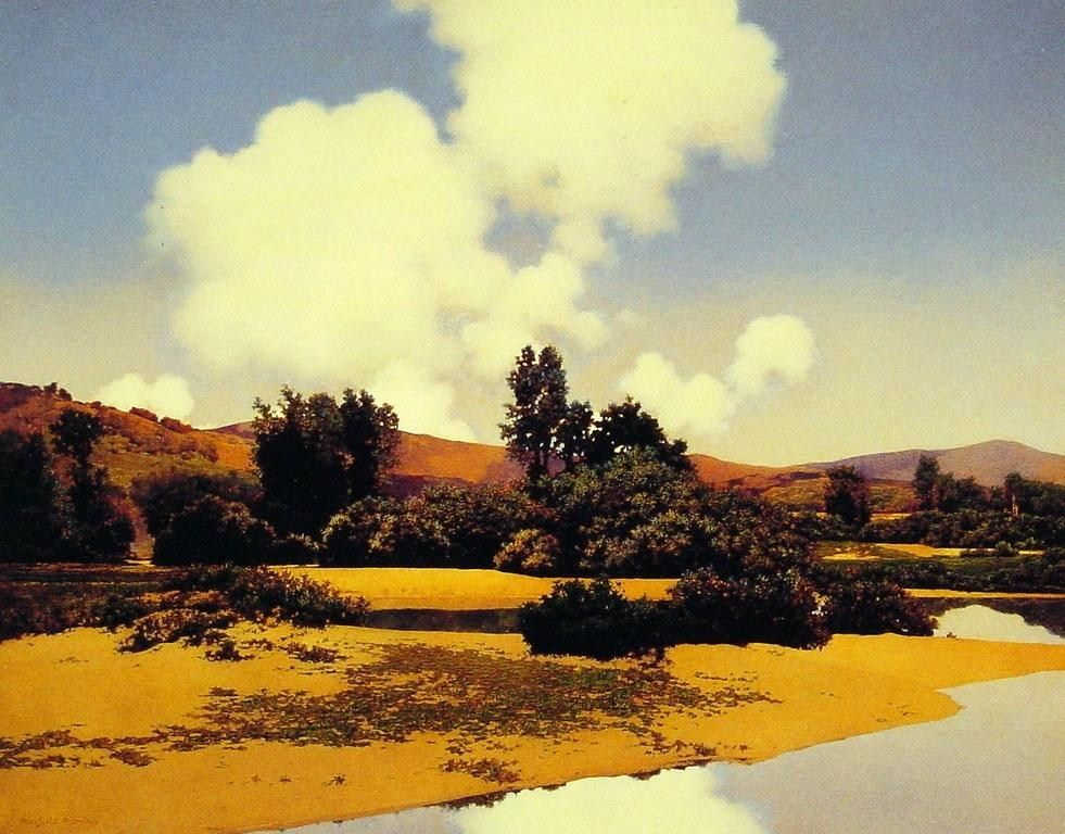 Maxfield Parrish Little Sugar River at Noon