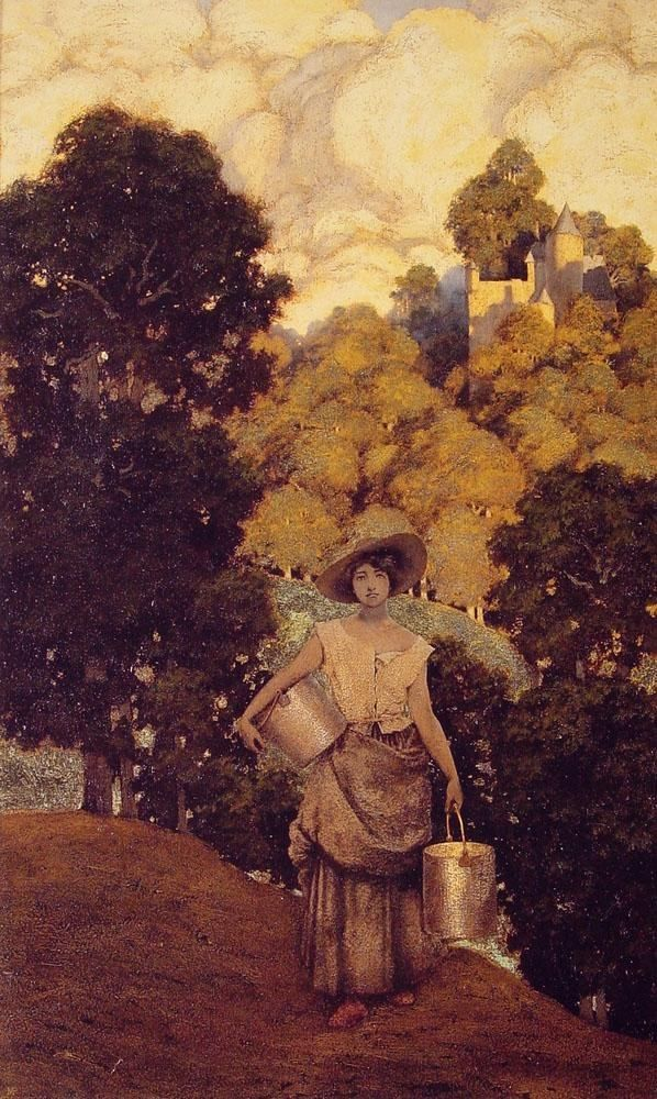 Maxfield Parrish Milkmaid